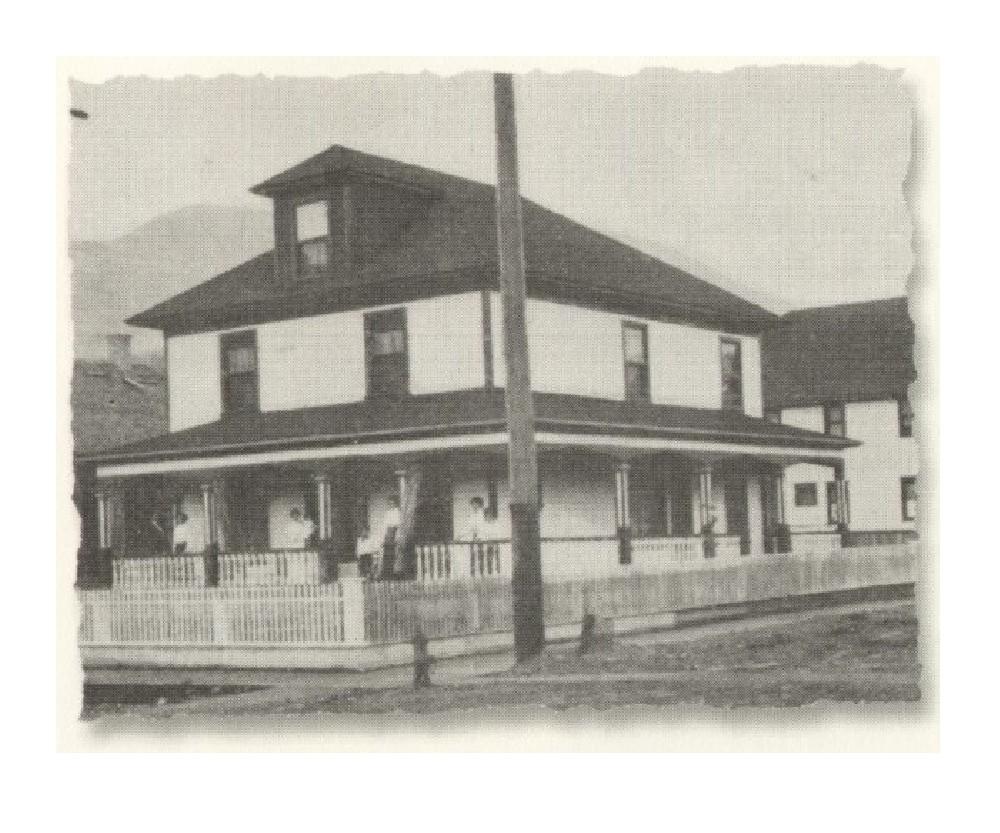 A photo of the nurses residence cerca 1909.