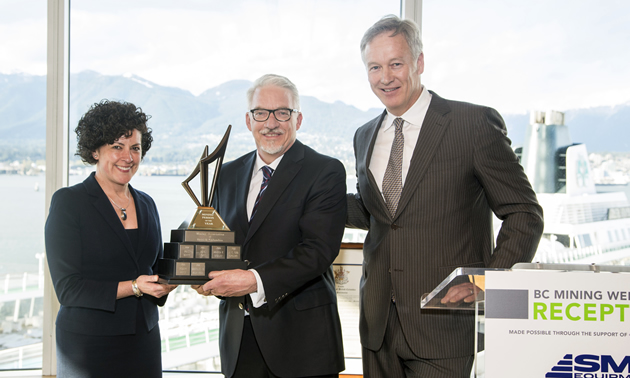 Mining Person of the Year 2012 (Karina Briño, Pierre Lebel, Scott Broughton).