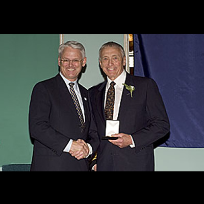 In this file photo, Geoff Battersby receives a BC Achievement award from then Premier Gordon Campbell.