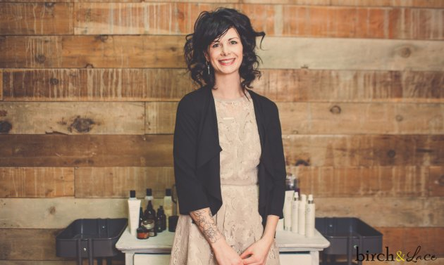 Birch and Lace owner Sara Jeffery