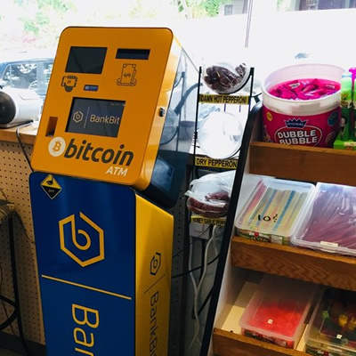 A Bitcoin machine.