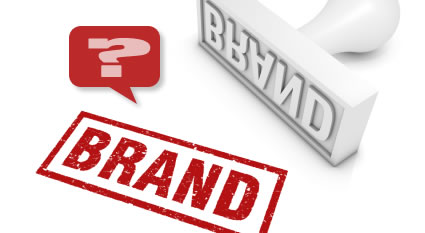Rubber stamp with the word Brand