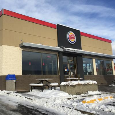 Outside of Burger King restaurant, in Cranbrook, BC.