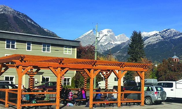 A beautiful new pergola is part of the new renovations at the College of the Rockies' Fernie campus.