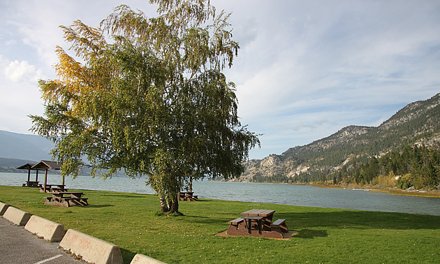 Tilley Memorial Park is a popular recreation area on the shore of Columbia Lake at Canal Flats, B.C.