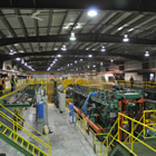 Photo of inside Canfor's completely upgraded sawmill