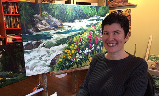Caprice Hogg in her studio: Caprice Fine Art & Co.