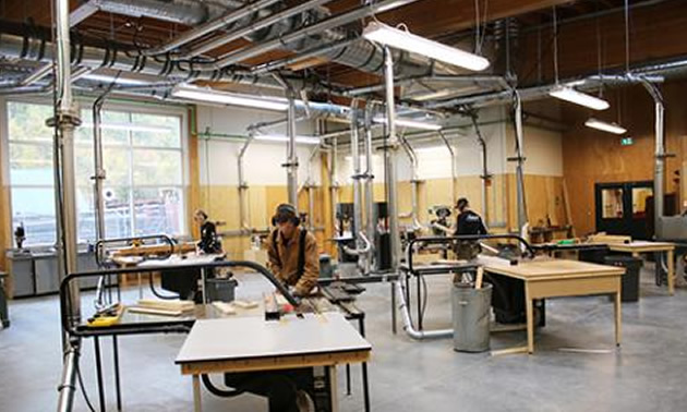 Students moved into the new Silver King Campus carpentry shop in September where the workspace has been enhanced to feature high ceilings, natural light, more floor space and a leading edge dust collection system.