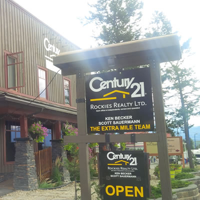 The new offices of Century 21 Rockies Realty Ltd, located on Highway 93 in Radium Hot Springs.