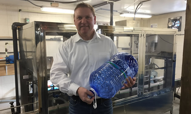 Owner Murray Floyd at the company's new state-of-the-art bottling facility.