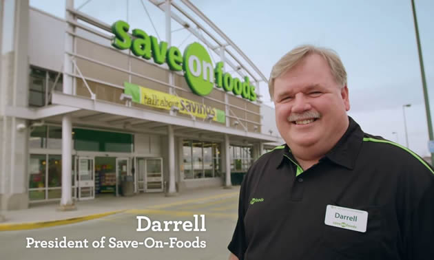 Darrell Jones standing outside Save on Foods