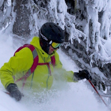 Dave MacLeod, CEO of Thoughtexchange, manages to find time to enjoy fresh powder at nearby Red Resort in his hometown of Rossland, B.C.