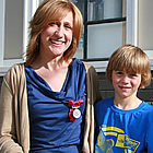 Dawn Manning and her son, Simon Impey