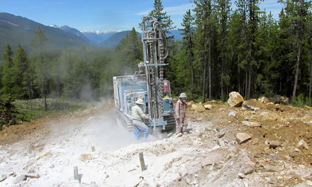 Workers at the Driftwood Creek project site.