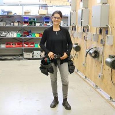 Selkirk College Electrical Foundation Program Instructor Julie-Claire Hamilton.