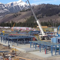 Photo Elko planer mill during construction
