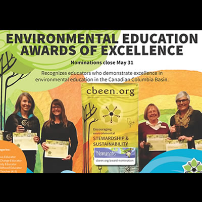 2019 Environmental Education Awards of Excellence graphic.