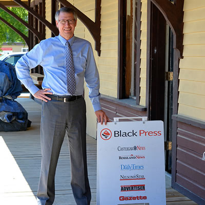 Eric Lawson, new regional Black Press publisher for the company's West Kootenay/Boundary area.