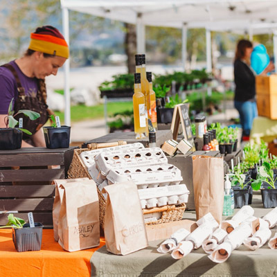 Vendors at Revelstoke Food Initiative Market.