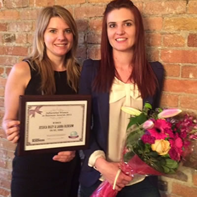 Owners of Fernie's Spa 901, Laura Oleksow and Jessica Riley, were also recognized by Kootenay Business with an Influential Women in Business Award earlier this year.  They were winners of the Fernie Chamber's Community Tourism Achievement Award as well.
