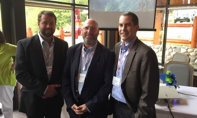 John Pumphrey, CanAus Coal, Andy Cohen, Resorts of the Rockies and Colin Joudrie, of Teck Resources, Vancouver were featured panelists