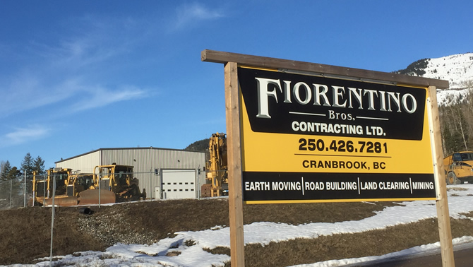 Fiorentino Bros. Contracting (FBC) has added a new building to their equipment yard near Sparwood.