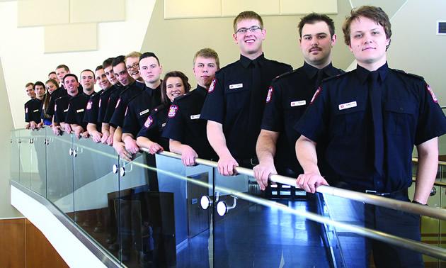 The College of the Rockies Fire Training program 2017 graduates.