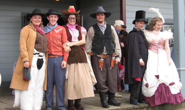 Fort Steele staff dressed in period costume