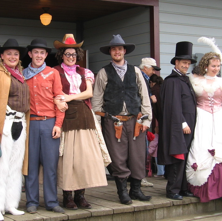 Fort Steele staff dressed in period costume