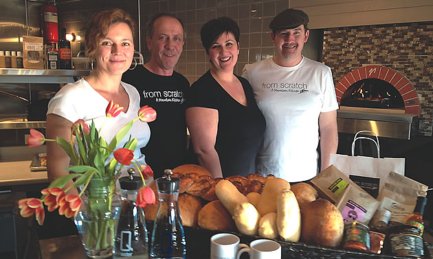 Owners and staff at From Scratch restaurant in Fairmont Hot Springs, BC