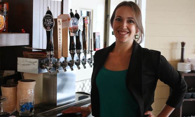 Gabrielle Plamondon, sales and marketing manager of the West Coast Grill.