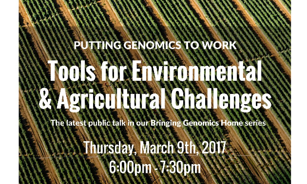Genome BC's Bringing Genomics Home speaker series returns to the College of the Rockies on March 9th.