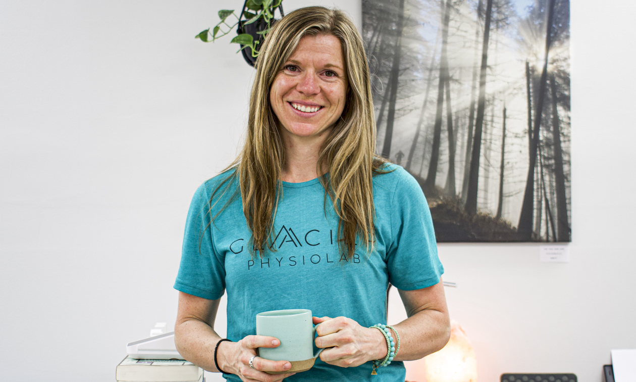 Owner of Glacier PhysioLab, Marie-Michelle Lafontaine