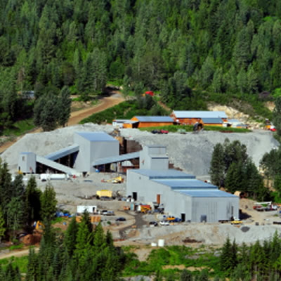MX Gold Corp's Max Mining and milling operation in the Kootenay region of B.C.