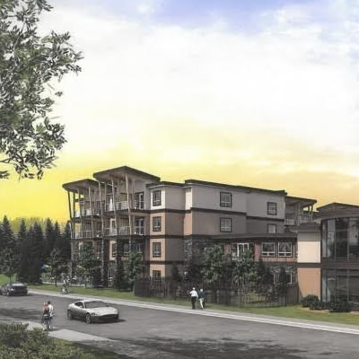 Artist's rendition of residential care facility.