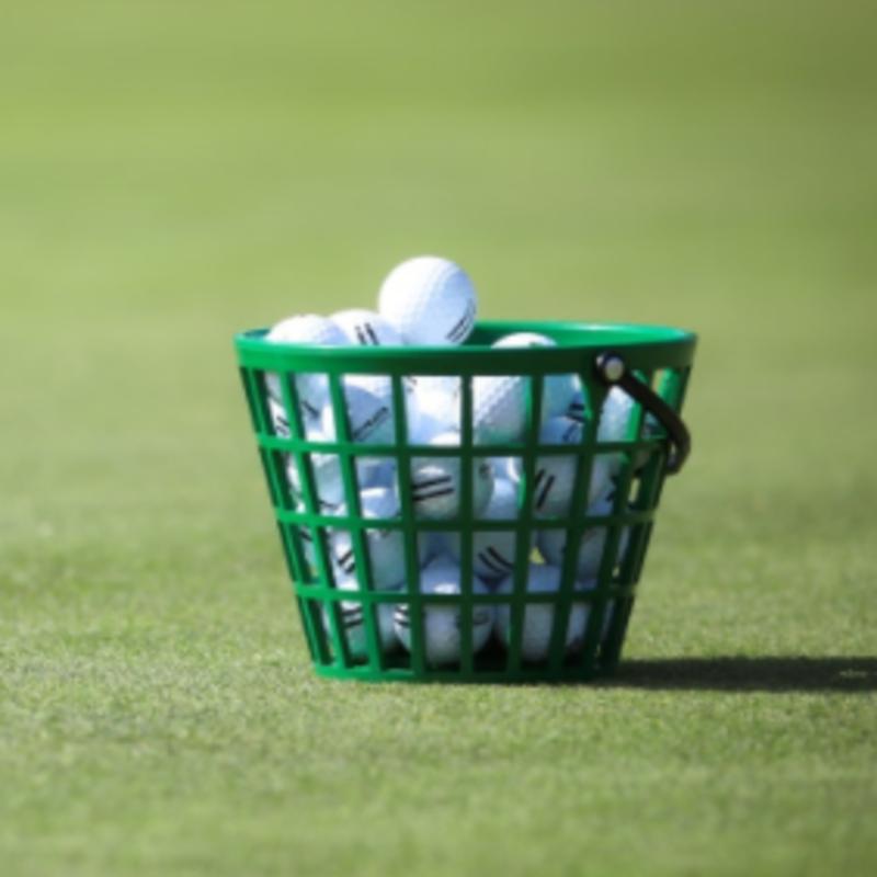 golf ball on a golf green