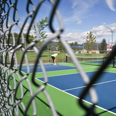 Upgraded tennis and pickleball courts at Gyro Park in Cranbrook.