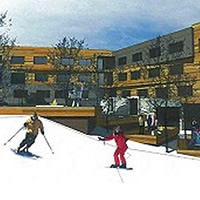Photo rendition of proposed Red Mountain hotel development in Rossland BC