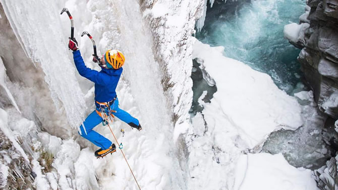 Picture of Gord McArthur, world-class ice climber from Cranbrook.