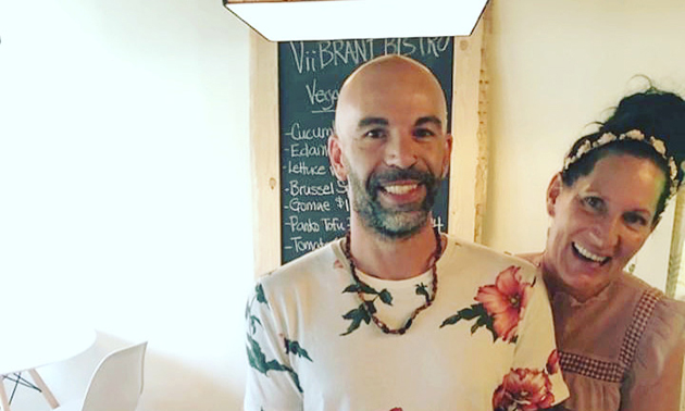 """Facundo Mandalari and Dar Jmayoff opened Viibrant Earth Cafe and Bistro with a tagline of """"Heal all those that you feed."""""""