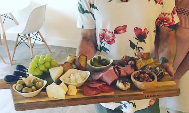 The fine-dining menu includes charcuterie boards.