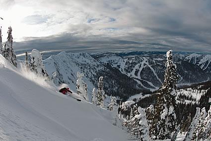 someone skiing at Whitewater Ski Resort
