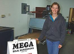 Heather Oglestone the new owner of Mega Silk Screaning