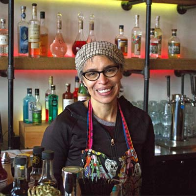 Owner of Mexican restaurant Taqueria el Corazon, Betty Gutierrez.