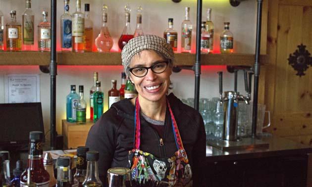 Owner of Mexican restaurant Taqueria el Corazon, Betty Gutierrez.