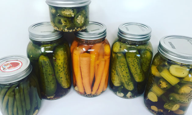 Jars of pickes.