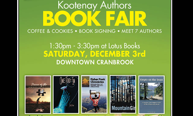 Graphic of the Kootenay Authors Book Fair.
