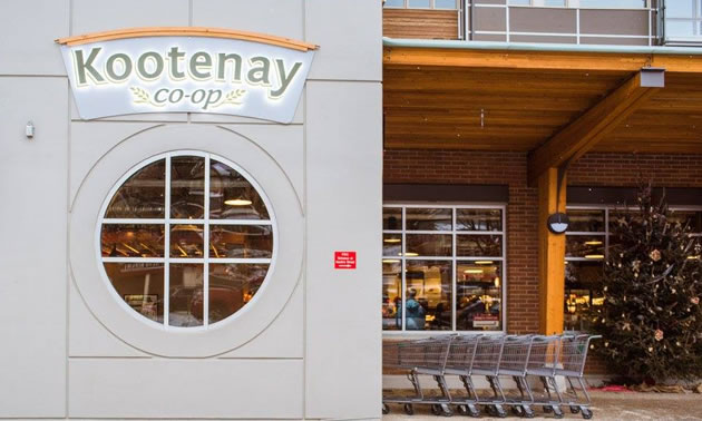 Entrance of the new Kootenay Co-Op.