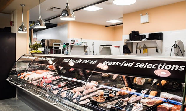 The meat counter at Kootenay Co-op.