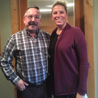 Kootenay Rockies Tourism board members Thom Tischik and Deanne Steven.